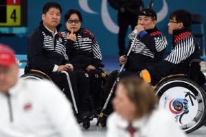 [서울포토] 패럴림픽 컬링, 심각한 '오벤져스'