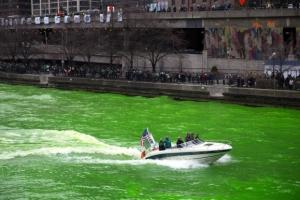 [포토뉴스] 성 패트릭데이 맞아 녹색으로 물든 강