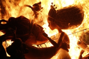 [포토] '활활 타올라라'… 스페인 불꽃축제 '라스 파야스'
