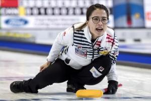 [포토] 세계여자컬링선수권, 캐나다에서도 외쳐 '영미~'