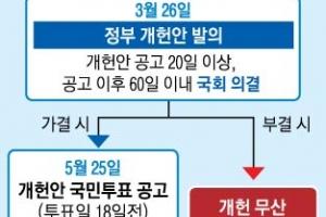 """靑 """"새달 27일까지 국민투표법 개정을""""… 국회의 선택은"""