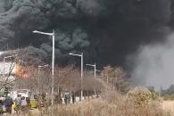 (영상) 인천공항 기내식시설 신축현장 불…2명 부상