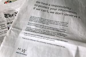 신뢰 떨어뜨려 놓고… 저커버그의 뒤늦은 사과 광고