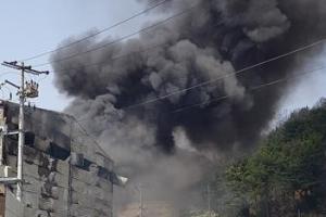전국에서 잇단 화재…야산에서, 공장에서