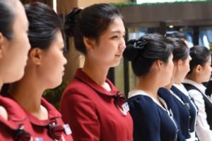 [포토] '미모의 환영단' 고려호텔 직원들