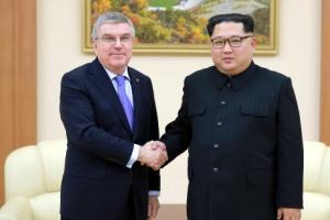김정은, 바흐 IOC위원장 면담