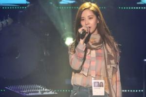 [서울포토] 평양 공연서 북한 노래 부르는 서현
