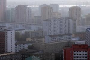 [서울포토] 고층 건물 빼곡한 평양 시내 모습