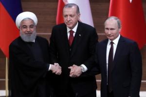시리아 7년 내전 결말은…러시아·이란·터키 '나눠먹기'
