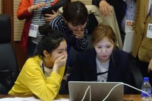 [서울포토] 북한 호텔서 인터넷을…레드벨벳, '깜짝 놀란 표정'