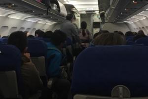 도쿄행 에어부산, 11시간만에 착륙