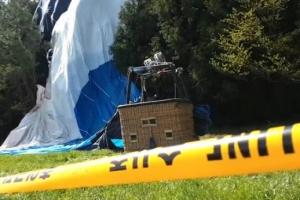 사고 열기구 세차례 지상 충돌 후 15m 부양·낙하…영상분석