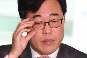 [서울포토] 난감한 표정의 김기식 금감원장