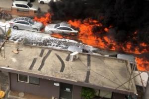인천 화학공장 화재 재산 피해 23억원…소방펌프차까지 전소