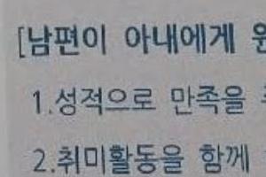 """유치원 가정통신문에 """"성적으로 만족을 주는 아내""""…논란"""