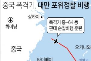 중국 폭격기, 대만 포위정찰 비행…대만독립 겨냥 여론전