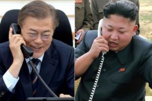 남북정상 '핫라인' 열렸다…문 대통령 집무실 책상위에 설치