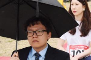 [서울포토] '비가 와도 멍~'… 한강 멍때리기 대회
