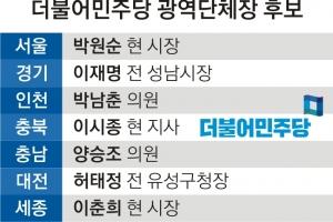 민주당 광역 17곳 후보 확정… 친문계 강세