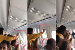 난기류로 창문 떨어진 인도 여객기 '아찔'