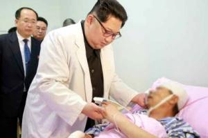 北김정은, 중국대사관 찾아 교통사고 부상자 위문