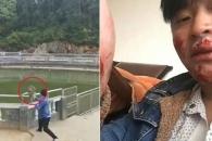 원숭이 연못에 밀어 넣으려다 봉변당한 중국 남성