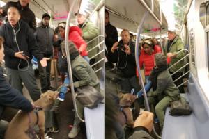 뉴욕 지하철에서 벌어진 개 난동 사건