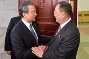[포토] 中 왕이 외교부장 방북… '차이나 패싱' 불식 총력