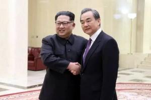 """김정은 만난 왕이 """"판문점 선언 지지"""""""