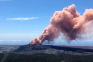 하와이 킬라우에아 화산 용암분출