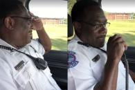 은퇴 경찰관의 마지막 무전 메시지 화제