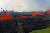 마치 '지옥'에 온 듯, 하와이 용암 강 분출 모습