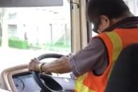 '꾸벅꾸벅' 졸음운전 하는 버스 기사