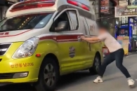 [영상] 천안 구급차 탈취 사건…여고생 2명 부상