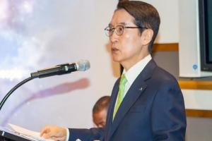 유엔본부서 인본주의 연설한 신창재 교보생명 회장