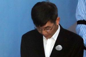 [포토] 'MB 재산 관리인' 이병모, 첫 재판 출석
