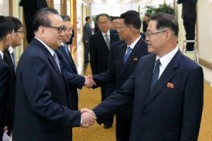 [포토] 북한 노동당 부위원장 이끈 참관단 중국 방문