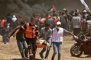 이스라엘군 발포로 팔레스타인 시위대 58명 사망·2천700명 부상