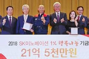 21억… SK이노 '1%의 힘'