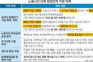 '주52시간' 기업 신규 채용 땐 1인당 월 100만원 지원