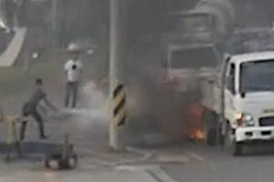 신속한 초기 진화로 대형 화재 막은 경찰관