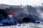하와이 화산 용암, 태평양…