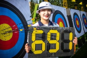 양궁 강채영, 월드컵 예선서 세계신기록…女단체도 기록 경신