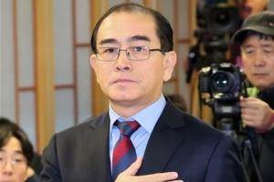 """'3층 서기실의 암호' 논란 태영호 """"자유롭게 활동"""" 국가안보硏 사퇴"""