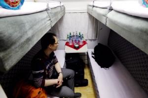[서울포토] 풍계리 핵실험장으로 가는 특별열차 안