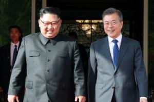 [포토] '배웅길 함박웃음' 남북정상