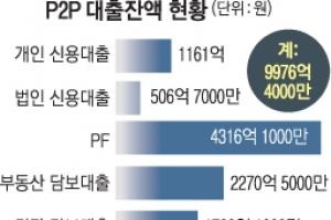 고금리·부동산 편중… 변질되는 'P2P 대출'