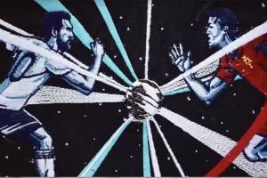 직물 공예로 완성된 월드컵 명장면
