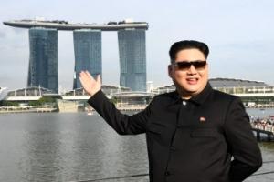 싱가포르에 등장한 '가짜 김정은'