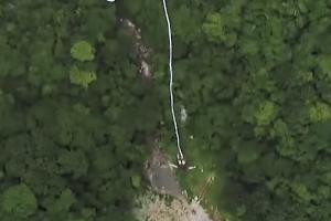 중국서 열린 세계 최대 높이의 번지 점프 대회